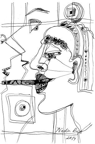 a-man_nadia_russ_neopoprealism_ink_pen_pattern_drawing_mini.JPG
